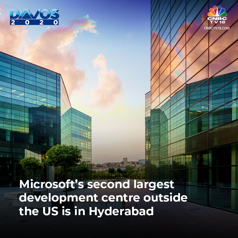 Microsoft second largest devlopement center outside the US is in Hydrabad.